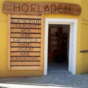 Hofladen geöffnet: täglich von 8:00 - 20:00 Uhr